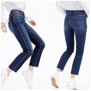 NWT J. Crew Vintage Straight Raw Hem Jeans